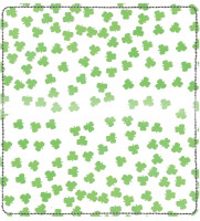 More Clovers Leather Checkbook Cover | CDP-TVL14