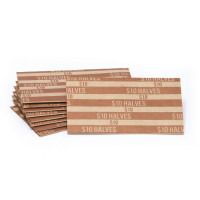 Flat Striped Half Dollar Coin Wrappers | CFW-013