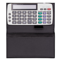 Black Bi-fold Calculator Cover | CLPCA-01