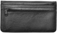 Black Leather Zippered Checkbook Cover | CLZ-BLA01