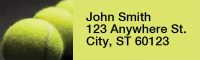 Tennis Narrow Address Labels | LRRSPO-06