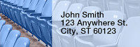 Blue & White Football Team Narrow Address Labels | LRRSPT-08