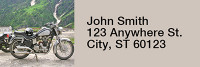 Scenic Cycles Narrow Address Labels | LRRTRA-03