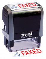 """Faxed"" Message Stamp 