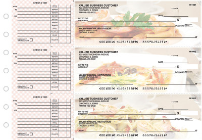 Italian Cuisine Accounts Payable Designer Business Checks | BU3-CDS05-DED