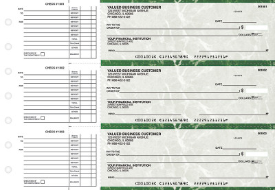 Green Marble Accounts Payable Business Checks | BU3-GMA01-DED