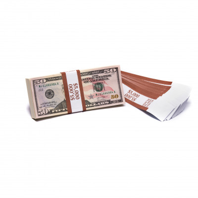 Brown Barred $5,000 Currency Bands | CBB-009