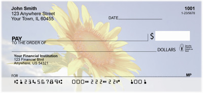 Sunflowers Personal Checks | NAT-08