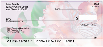 Spring Time Butterflies Personal Checks | NAT-80