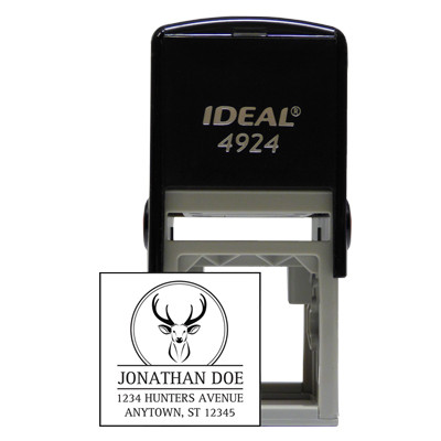 Square Designer Deer Stamp | STA-LAS-DS01
