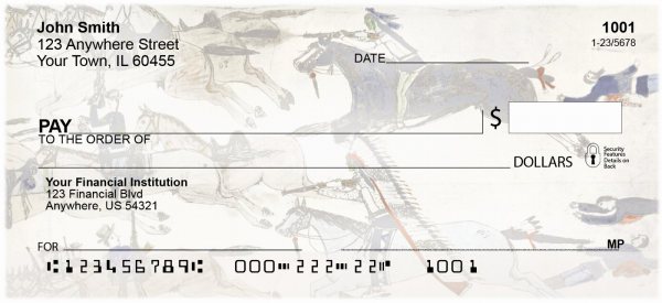 Native American Art Personal Checks | AFR-12