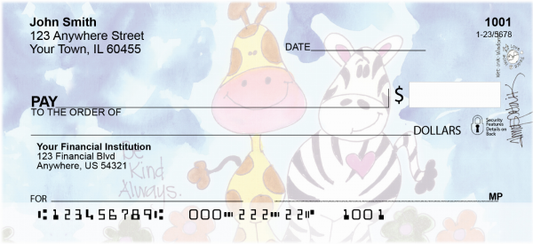 Encouraging Zoo Animals Personal Checks | AMY-20