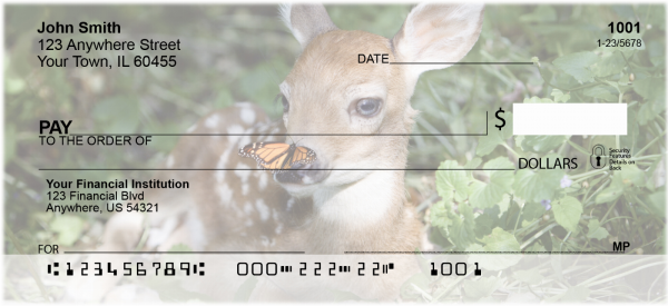 Baby Deer Personal Checks | ANI-18