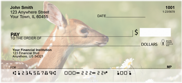 Deer Fawn Personal Checks