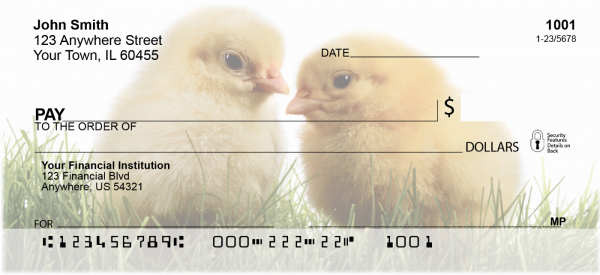 Spring Chicks Personal Checks | ANK-13
