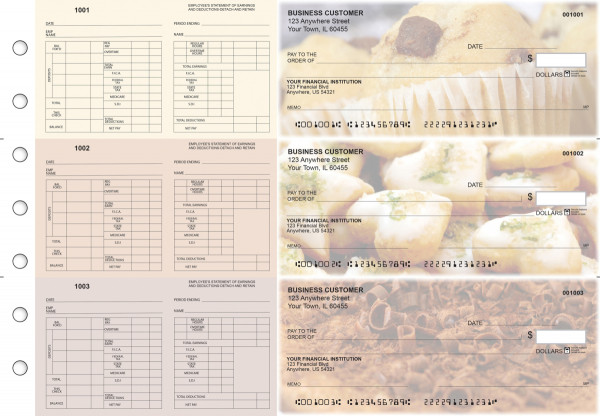 Bakery Multi-Purpose Hourly Voucher Business Checks | BU3-7CDS02-MPH