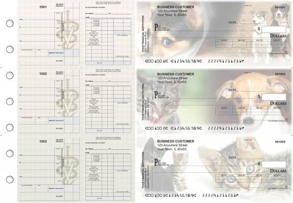 Veterinarian Payroll Invoice Business Checks | BU3-7CDS14-PIN