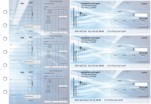 Digital Payroll Invoice Business Checks | BU3-7CDS15-PIN