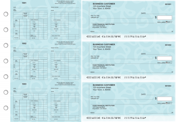 Swirls Multi-Purpose Counter Signature Business Checks | BU3-7CDS24-MPC