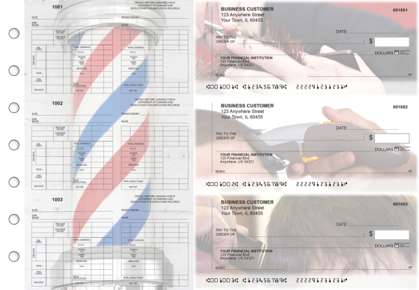 Barber Multi-Purpose Counter Signature Business Checks | BU3-7CDS28-MPC