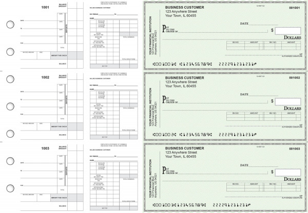 Green Safety Payroll Invoice Business Checks | BU3-7GRN01-PIN