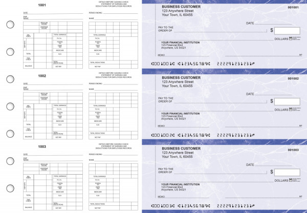 Blue Marble Multi-Purpose Counter Signature Business Checks | BU3-7LMA01-MPC