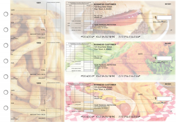 American Cuisine Standard Itemized Invoice Business Checks | BU3-CDS01-SII
