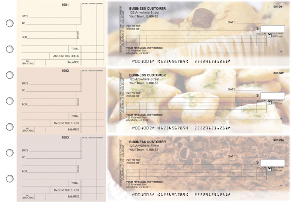Bakery Itemized Counter Signature Business Checks | BU3-CDS02-ICS