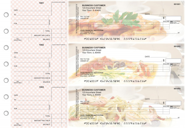 Italian Cuisine Itemized Counter Signature Business Checks | BU3-CDS05-ICS