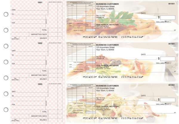 Italian Cuisine Standard Itemized Invoice Business Checks | BU3-CDS05-SII