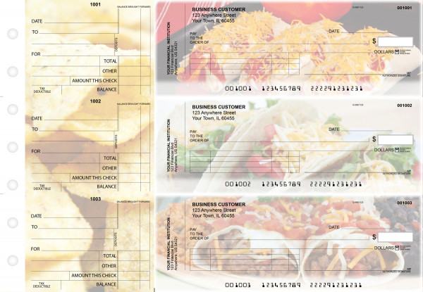 Mexican Cuisine Standard Invoice Business Checks | BU3-CDS07-SNV
