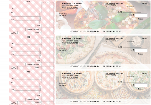Pizza Standard Mailer Business Checks | BU3-CDS08-SML