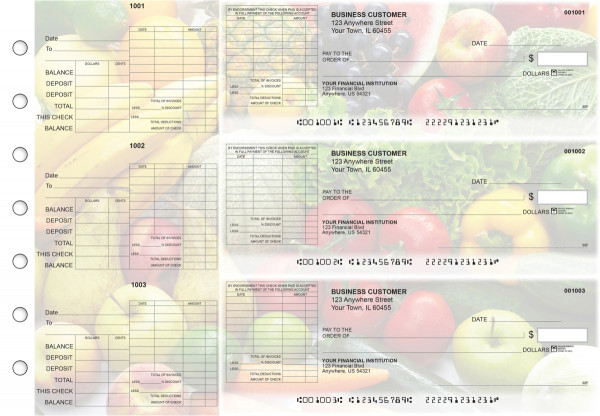 Fresh Produce General Itemized Invoice Business Checks | BU3-CDS09-GII