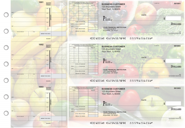 Fresh Produce Itemized Invoice Business Checks | BU3-CDS09-TNV