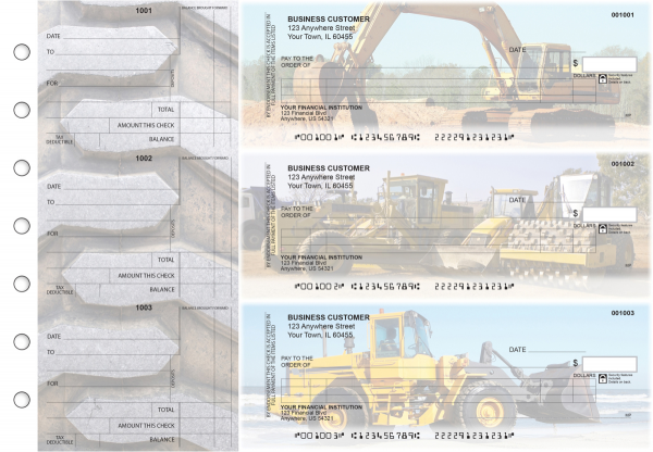Construction Itemized Counter Signature Business Checks | BU3-CDS10-ICS