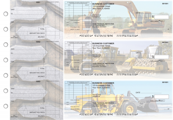 Construction Standard Itemized Invoice Business Checks | BU3-CDS10-SII