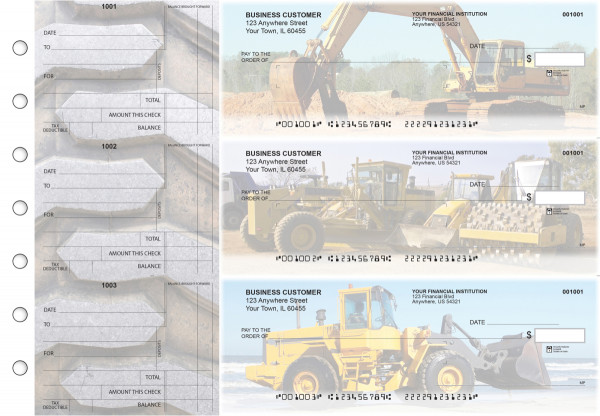Construction Standard Mailer Business Checks | BU3-CDS10-SML