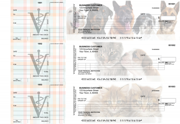 Veterinarian Itemized Counter Signature Business Checks | BU3-CDS14-ICS