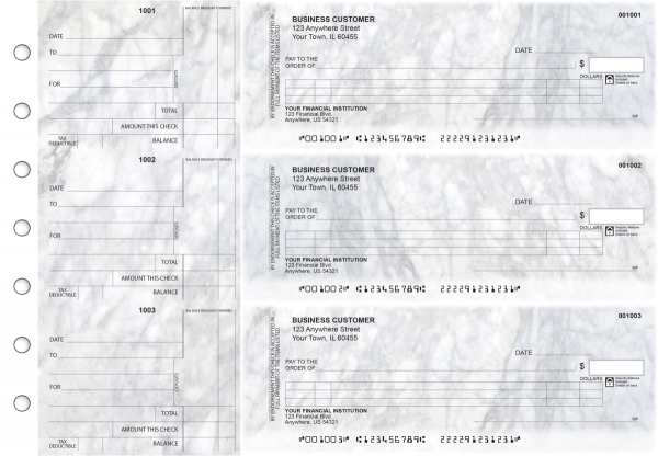 Marble Itemized Counter Signature Business Checks | BU3-CDS20-ICS