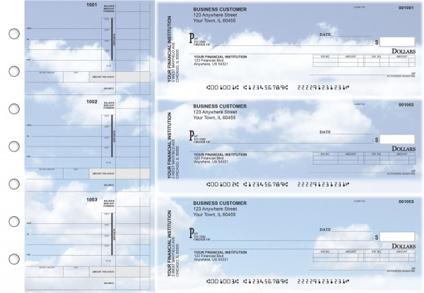 Clouds Invoice Business Checks | BU3-CDS21-INV