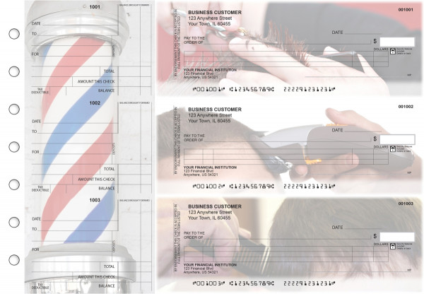Barber Itemized Counter Signature Business Checks | BU3-CDS28-ICS