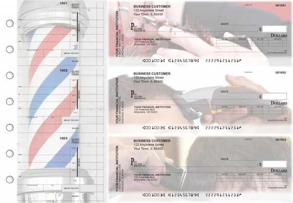 Barber Invoice Business Checks | BU3-CDS28-INV