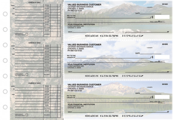 Scenic Mountains Accounts Payable Designer Business Checks | BU3-CDS29-DED