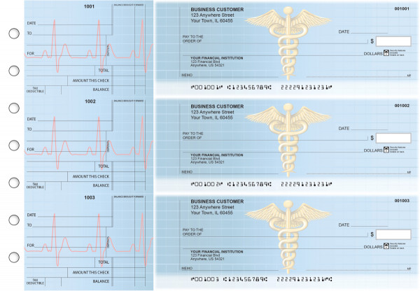 Medical Standard Counter Signature Business Checks | BU3-CDS30-SCS