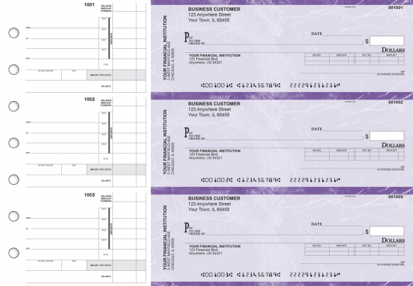 Purple Marble Invoice Business Checks | BU3-UMA01-INV