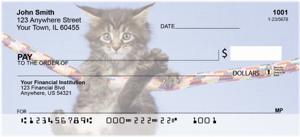 Maine Coon Kittens Personal Checks | CAT-02