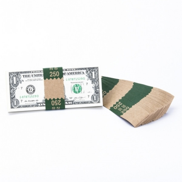 Natural Saw-Tooth $250 Currency Bands | CBKN-005