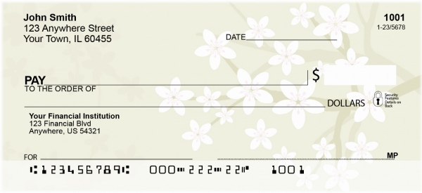 Cherry Blossoms Branches Personal Checks | CCS-04