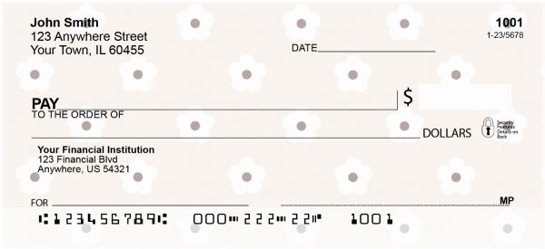 Flower Print Personal Checks | CCS-12