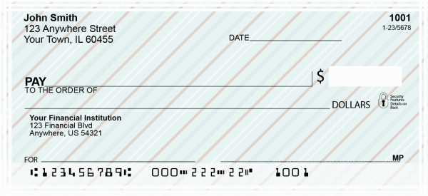 Pretty Stripes Personal Checks | CCS-21